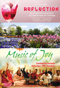 Music & Meditation at Canberra's Floriade Sat 10th Oct, 2015