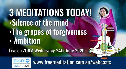 3 Meditations – Live on Zoom 24th June 2020